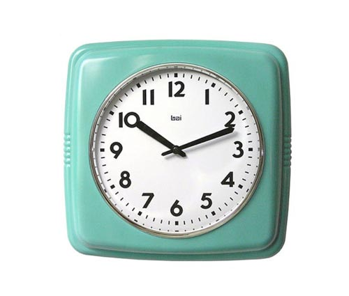 Cubist+Retro+Modern+Wall+Clock+in+Turquoise